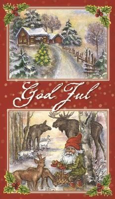 Jul landskap tomte & djur