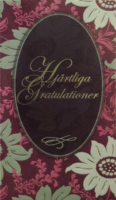 Gratulationskort med folierad text
