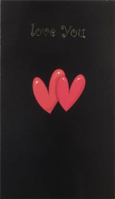 Två hjärtan på svart bakgrund