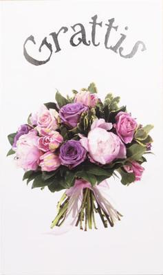 Bukett i rosa & lila