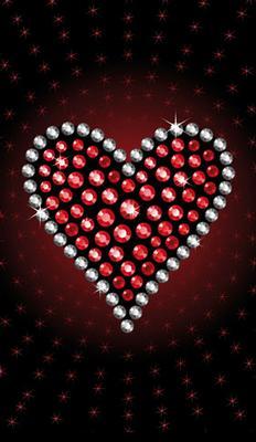Hjärta av ädelstenar, tecknat, textfri