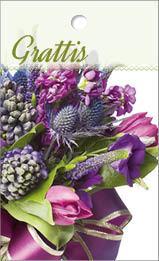 Mini mini lila bukett grattis