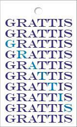 Mini mini Grattis text