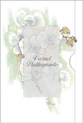 Vit orkidé i akvarell
