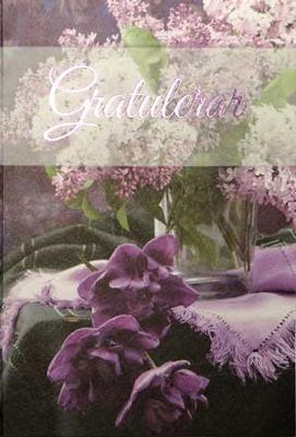 Lila Blommor Gratulerar