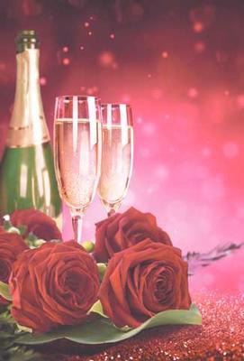 Champagne 2 glas, textfri