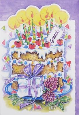 Tårta med ljus