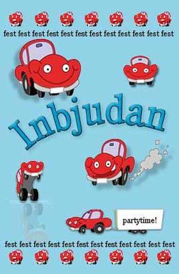 Små röda bilar '' Inbjudan ''