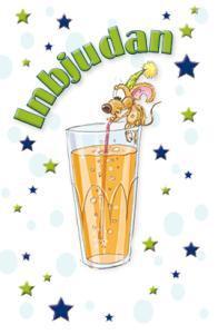 Mus dricker lemonad '' Inbjudan ''