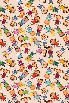 Massor av barn mönster, textfri
