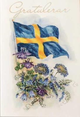 Flagga Gratulerar