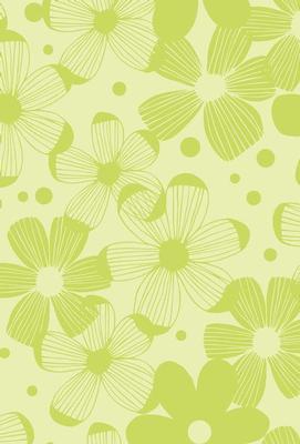Grattis på Grönt blommönster
