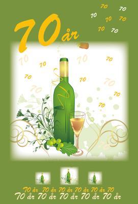 70 år '' Vinflaska '' Man