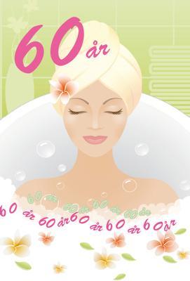60 år '' Kvinna i bubbelbad ''