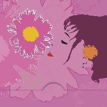 Kvinna doftar blomma