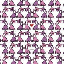 Rosa katt lila katt mönster