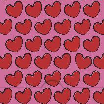 Röda hjärtan mönster