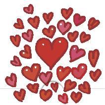 Massor av hjärtan