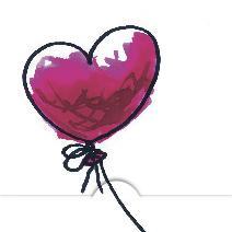 Rött ballong hjärta