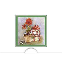 Jul blomma & paket i akvarell