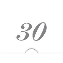 '' 30 '' Silver folierad