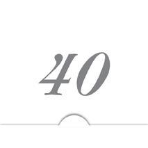 '' 40 '' Silver folierad