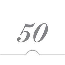'' 50 '' Silver folierad