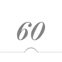 '' 60 '' Silver folierad