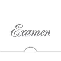 '' Examen '' Folierad text