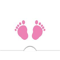 '' Babyfot flicka '' Folierad symbol