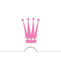 '' Krona flicka '' Folierad symbol