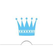 '' Krona pojke '' Folierad symbol