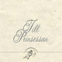 '' Till Prinsessan '' Folierad text , liten kerub