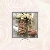 Bröllops skål med folierad ram