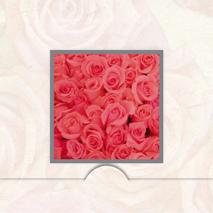 Folierad ram med rosor