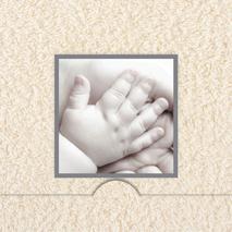 Folierad ram med Baby hand