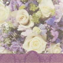 Bukett i vitt & lila, textfri