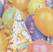Partyhatt & ballonger, textfri