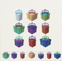 Paket i kvadrat & rad, textfri
