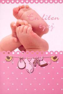 Baby fötter och en hand '' En liten tjej ''