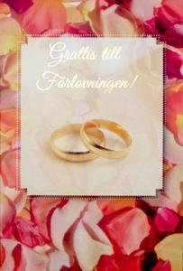 Förlovningsringar '' Grattis till Förlovningen ''