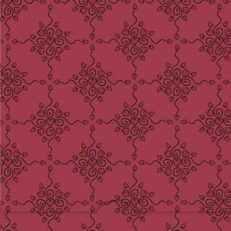 Spirande röda hjärtan i mönster