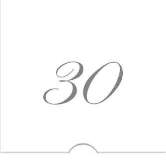 '' 30 '' Folierade siffror