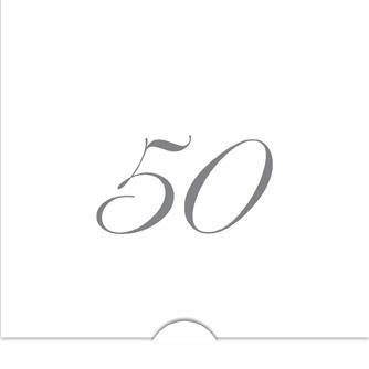 '' 50 '' Folierade siffror