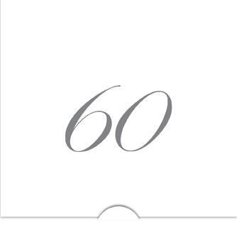 '' 60 '' Folierade siffror