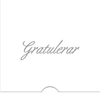 '' Gratulerar '' Folierad text