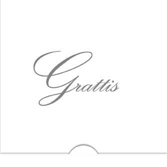 '' Grattis '' Folierad text