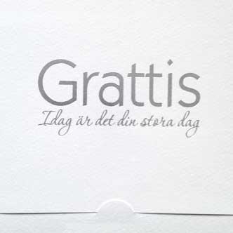 Grattis idag är det …