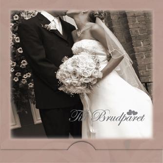'' Till Brudparet '' Folierad text, kyssande brudpar