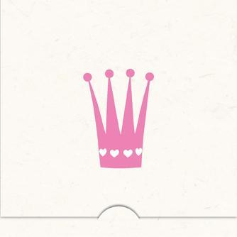 Folierad Krona flicka
